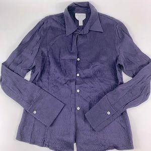 Talbots Petites Women Pure Silk Button Up Size 4